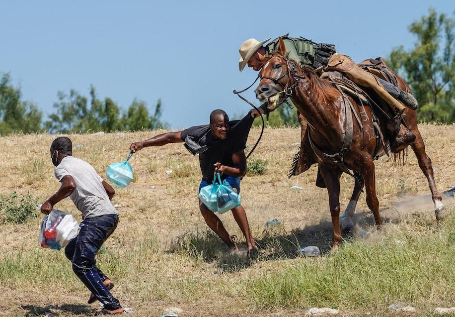 haitian border migrants, horseback chase, border patrol whipping