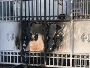Tentative d'incendie dans les locaux de la RTVC. Photo internet