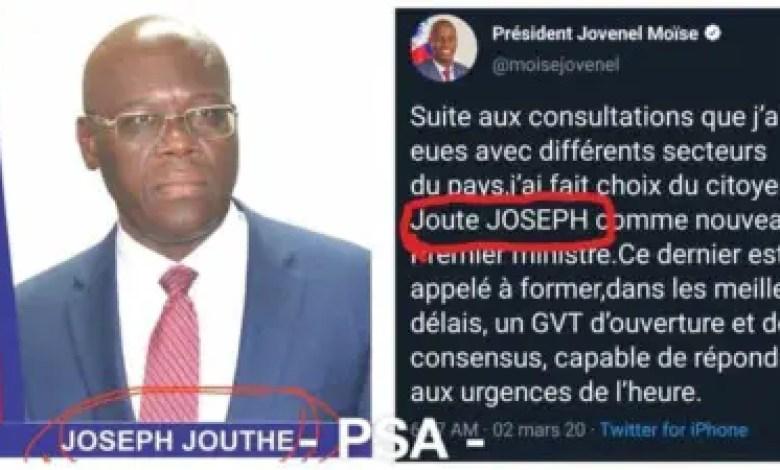 Haïti : Joute ou Jouthe? Répondez Monsieur le Président 1