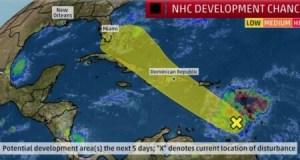 Mise en garde du Centre national des ouragans contre de fortes pluies et des inondations... 1