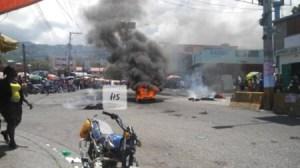 Tension sur la route de Delmas, à hauteur de Delmas 60 2