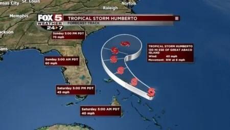 Après les ravages de Dorian, le cyclone Humberto arrive aux Bahamas