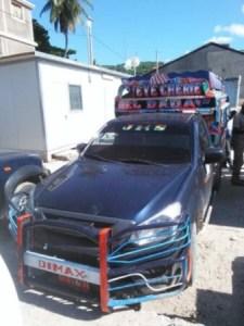 Récupération par la police du département des Nippes d'un véhicule volé par des bandits armés 1