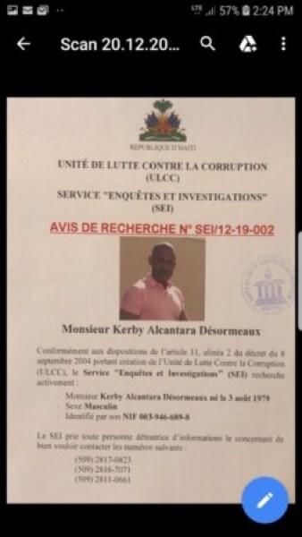 Kerby Alcantara Désormeaux arrêté à l'aéroport de Port-au-Prince par des agents de l'immigration 1