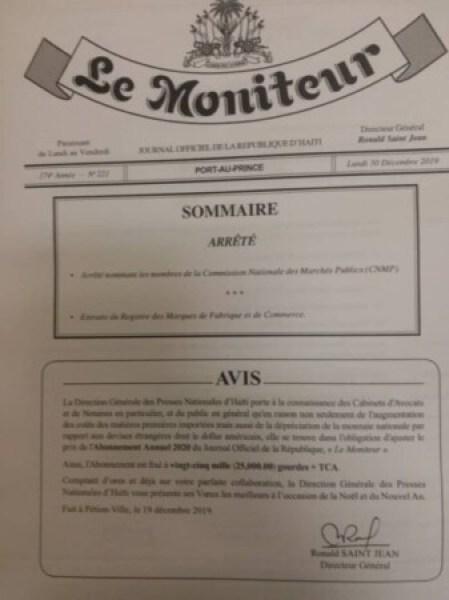 CNMP : 4 membres du Conseil d'administration sur 5 reconduits par le Premier ministre a.i Jean Michel Lapin 1