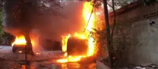 Port-au-Prince : incendie du cabinet Madistin à Lalue 1
