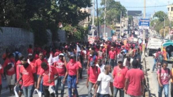 Port-au-Prince : les agents de la Police nationale d'Haïti déterminés à faire fonctionner leur syndicat 1