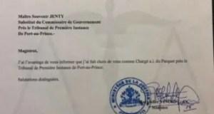 """Le substitut du commissaire du gouvernement, Me Souvenir Jenty nommé """"Chargé a.i du Parquet"""""""