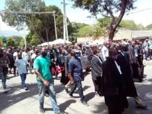 Port-au-Prince : des avocats réclament justice pour Me Monferrier Dorval