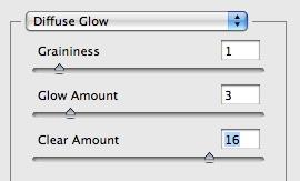 diffuse glow settings