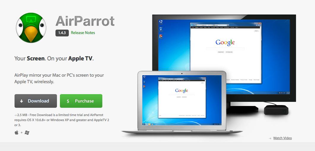 mirror my mac on apple tv free