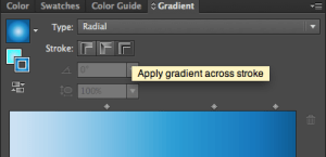 Illustrator gradient stroke panel