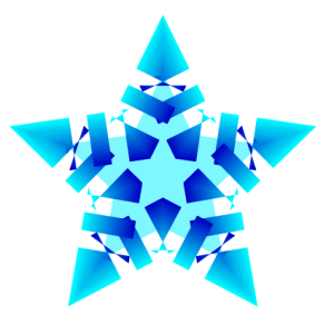 snowflake with gradient