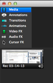camtasia edit pane