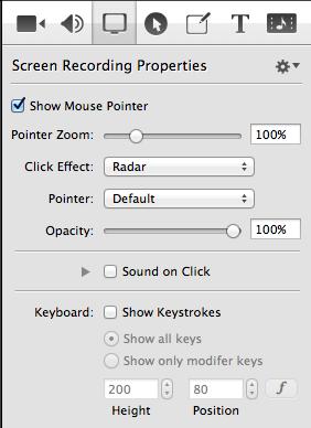 screenflow properties panel