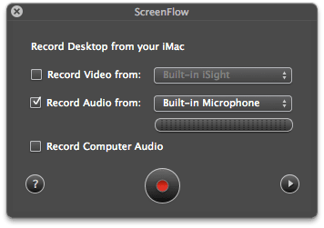 screenflow recording