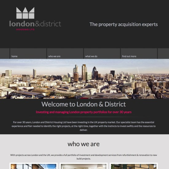 london and district housing website
