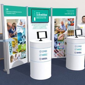Display stand design and 3D visual