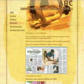 ABC Massage Website
