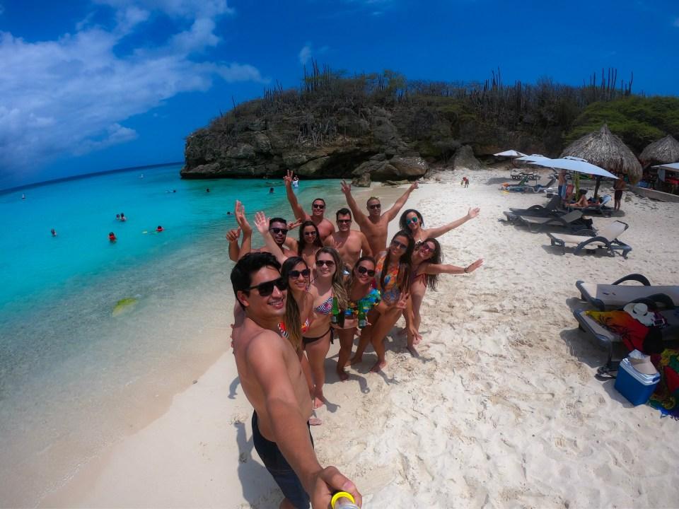 Viajar com amigos para Curaçao