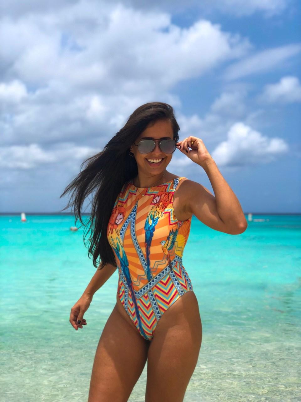 Curaçao e seu mar azul