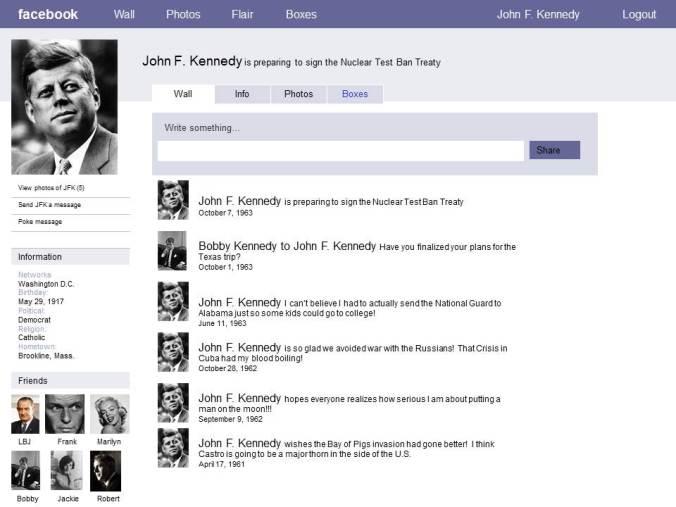 Primjer inovativnog korištenja Facebooka za projekt iz Povijesti