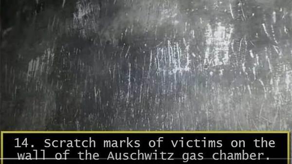 Navodni tragovi grebanja zidova u Auschwitzu