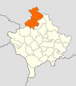 carte muette du nord du kosovo