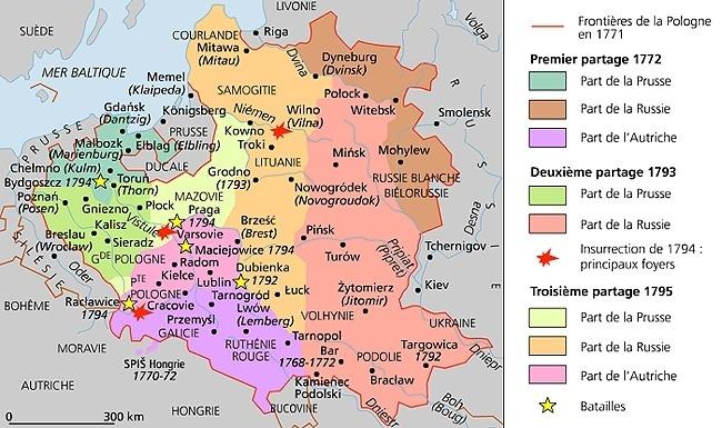 1009153 Les partages de la Pologne au XVIIIe siècle