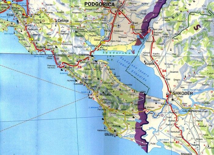 Carte du Lac Skadar