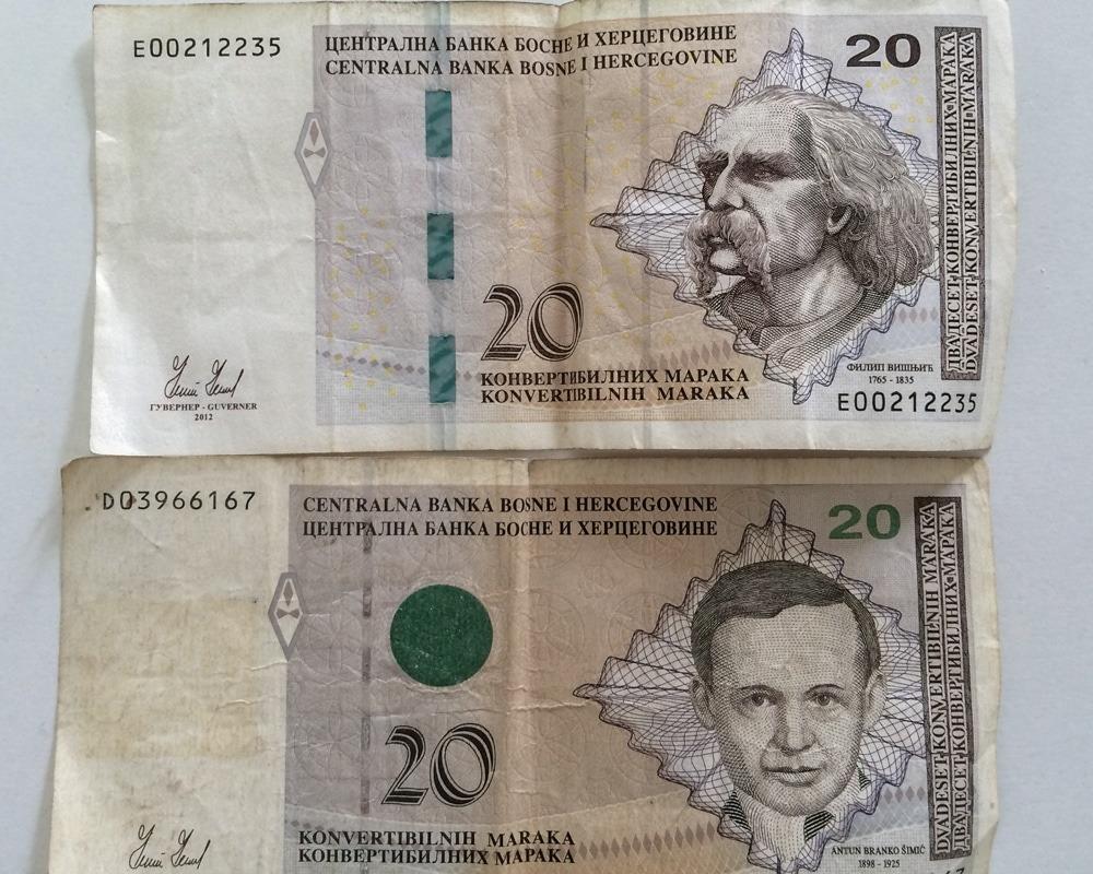 billet banque bosnie mark 1