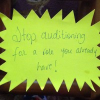 Stop Auditioning! Start Playing!