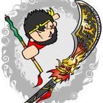 張飛が使う蛇矛