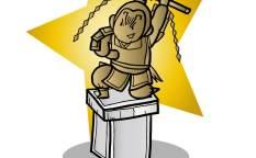 呂布の英雄石像