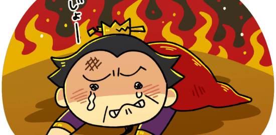 赤壁の戦いで敗北する曹操