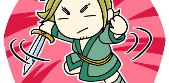 剣を持ち戦う李牧