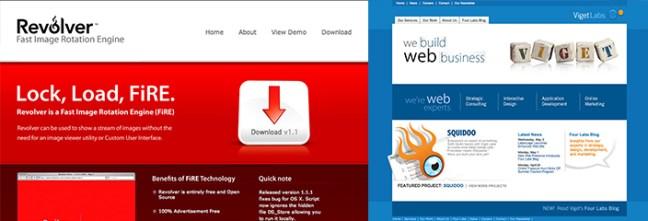 yansıtıcı yüzeyli web siteleri
