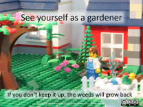 See yourself as a gardener