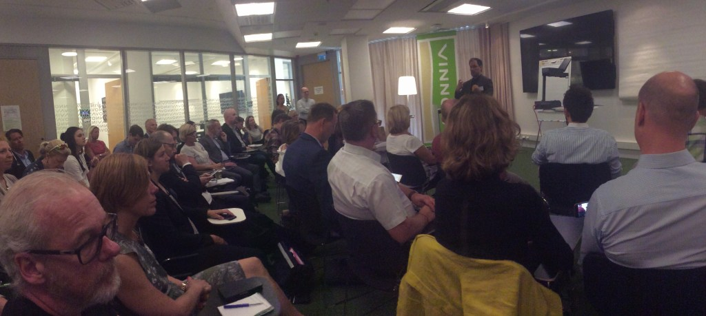 VINNOVA had a full house as the interest for public sector innovation management is big.