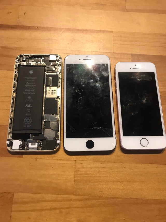 iPhone修理研修で使う端末たち
