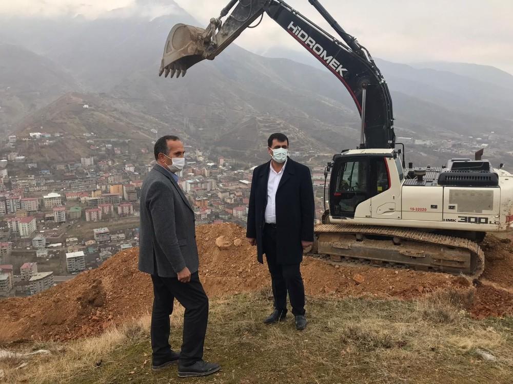 'Seyir Tepesi' yapılacak Efkar Dağı'nda yol çalışması