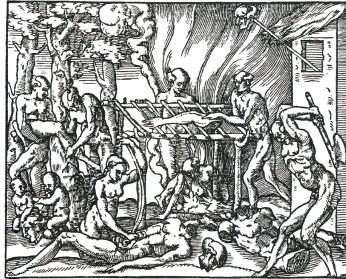 Thevet's 1557 engraving based on Staden.