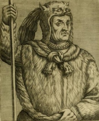 Thevet's 1557 engraving of a Florida Timucua Indian.