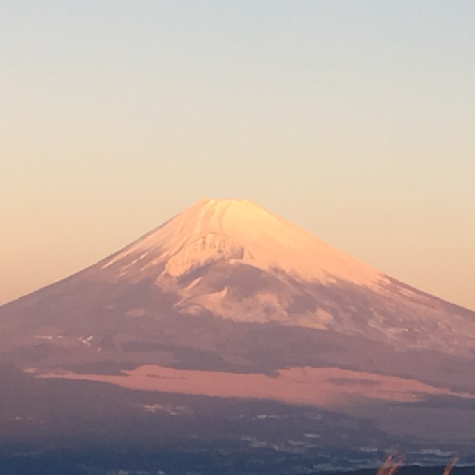 Fuji from Yamanaka Castle Ruins