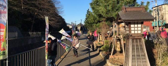 Pine trees line Hodogaya Tokaido