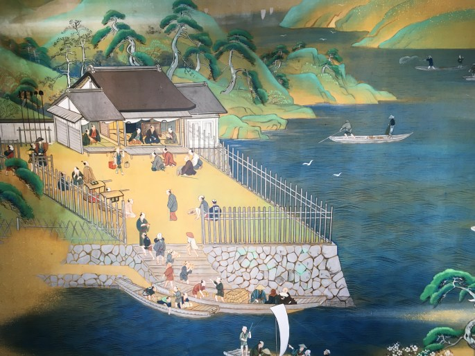 Access to Arai Checkpoint in feudal times from the capital (Edo) was only by boat across the mouth of Lake Hamana