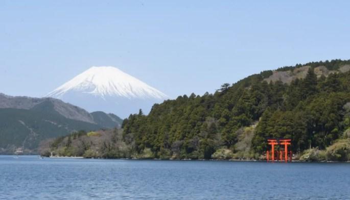 Hakone Shrine from Cedar Avenue