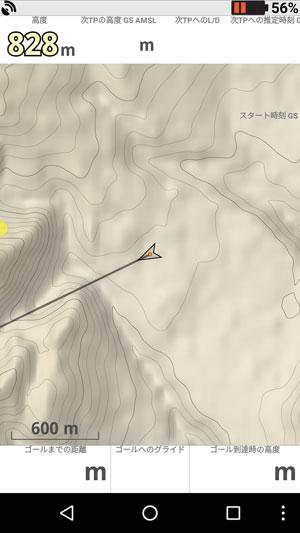 現在地と地形図の表示