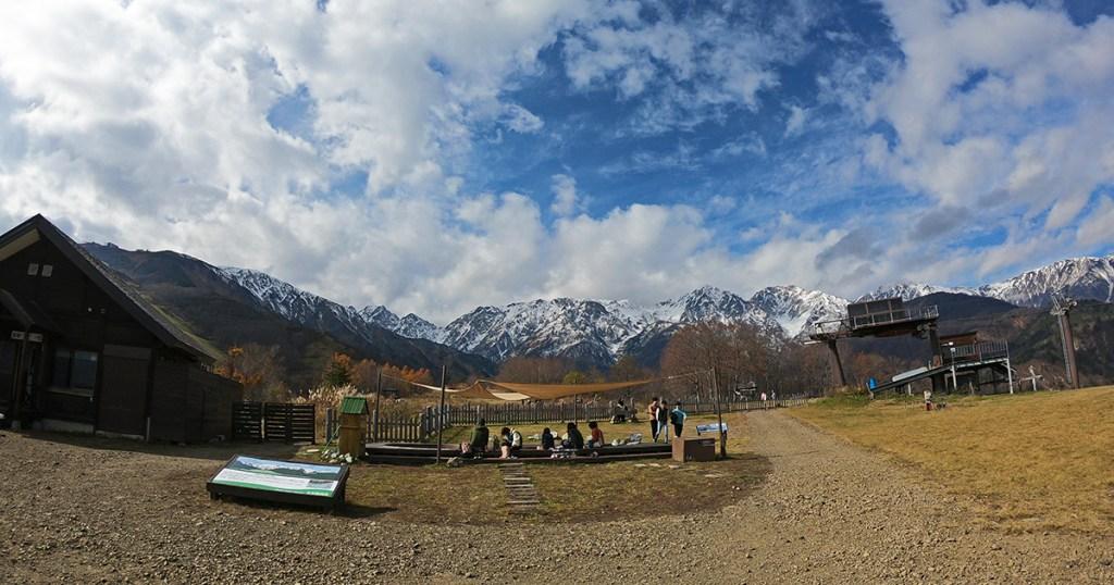 今日の北尾根高原からの景色