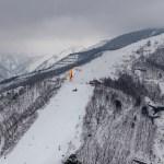 八方尾根スキー場とパラグライダー